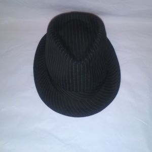 Accessories - ❤Pinstripe Fedora Hat Black/White Women's L/XL